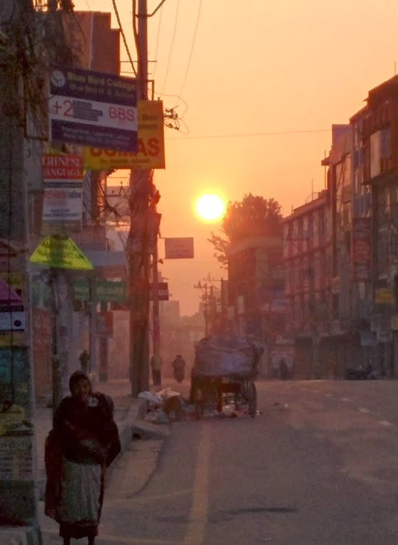 Sunrise seen from the Road at Lalitpur.